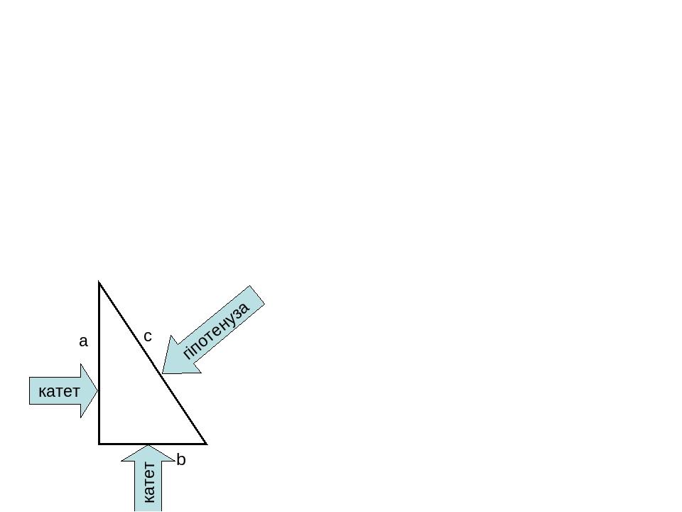 катет катет гіпотенуза a b c