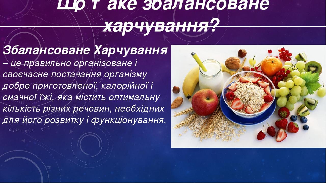 Презентація основні види харчових речовин.