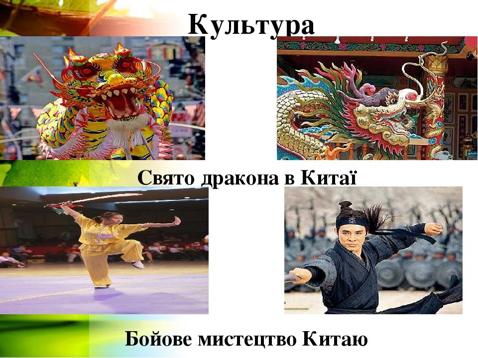 Культура Свято дракона в Китаї Бойове мистецтво Китаю