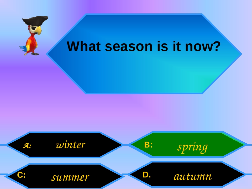 What season is it now? A: C: B: D. winter summer spring autumn