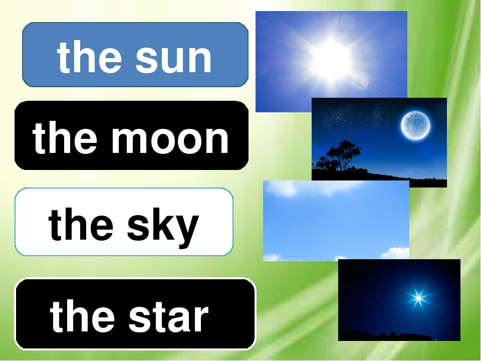 the moon the sky the star the sun