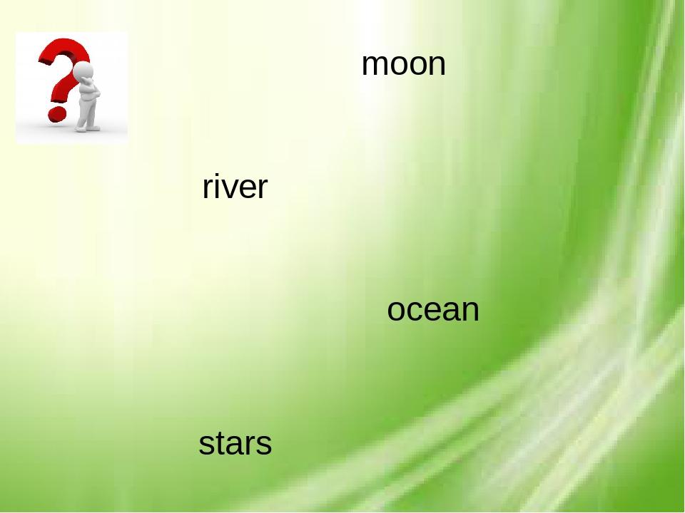 moon river ocean stars