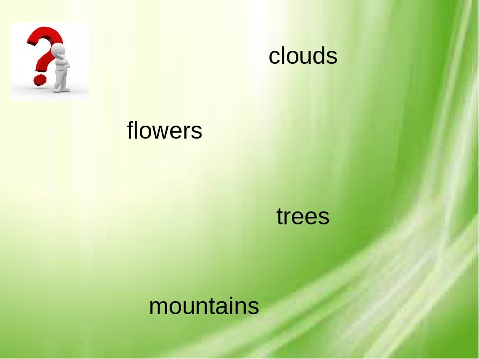 mountains flowers trees clouds