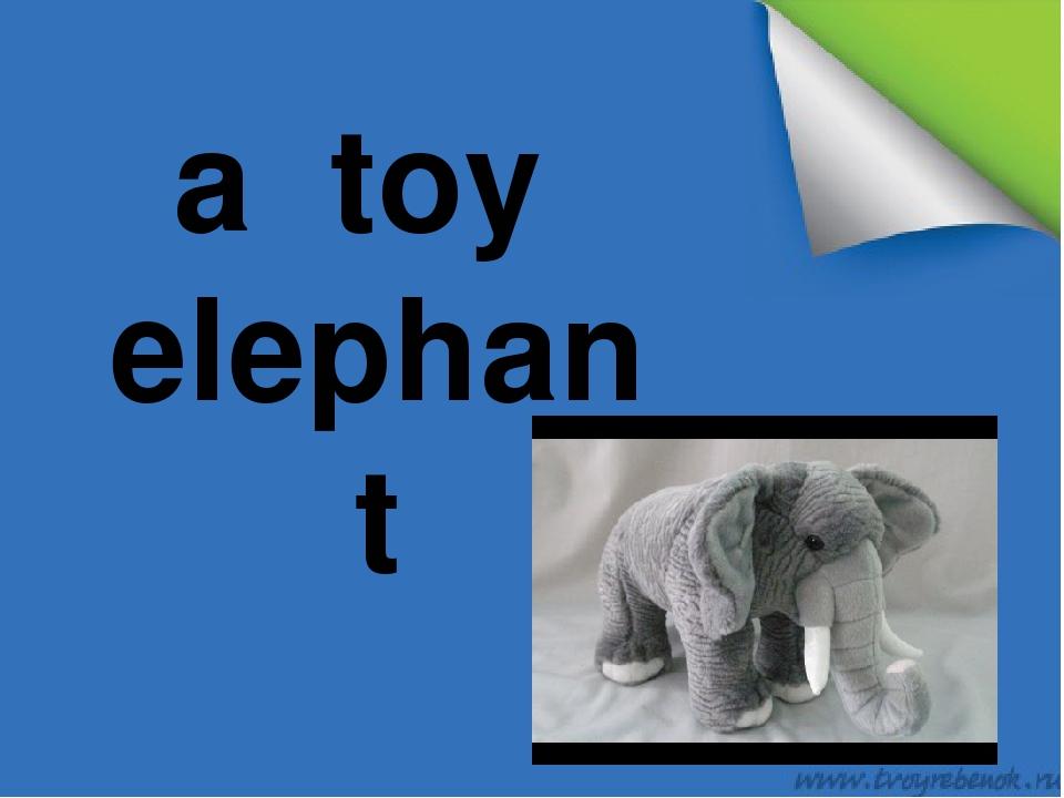 a toy elephant