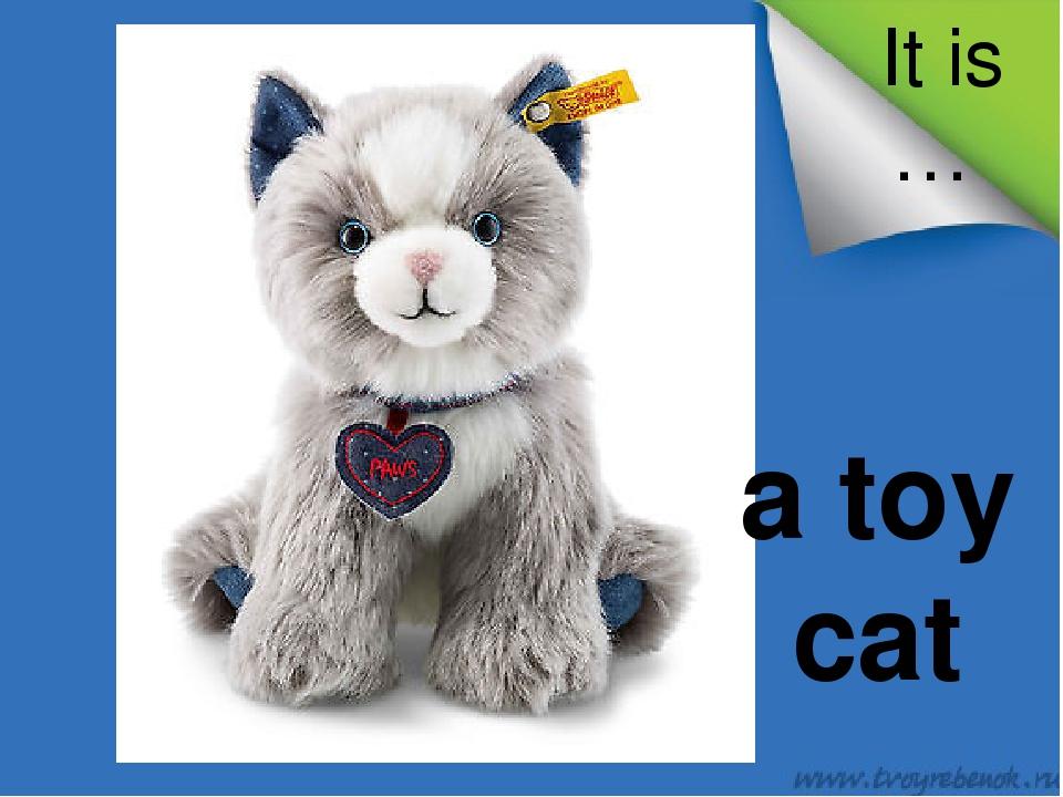 It is … a toy cat