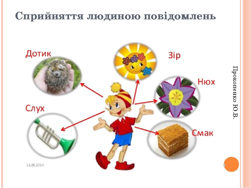 Сприйняття людиною повідомлень Прокопенко Ю.В.