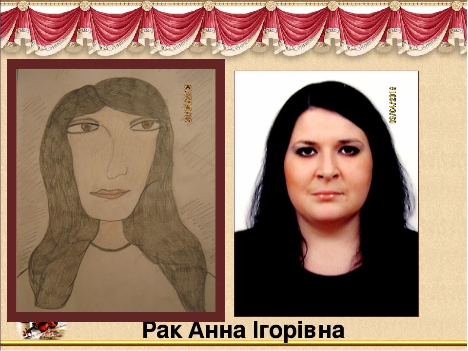 Рак Анна Ігорівна