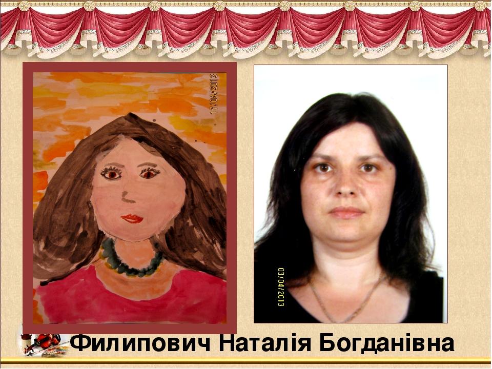 Филипович Наталія Богданівна