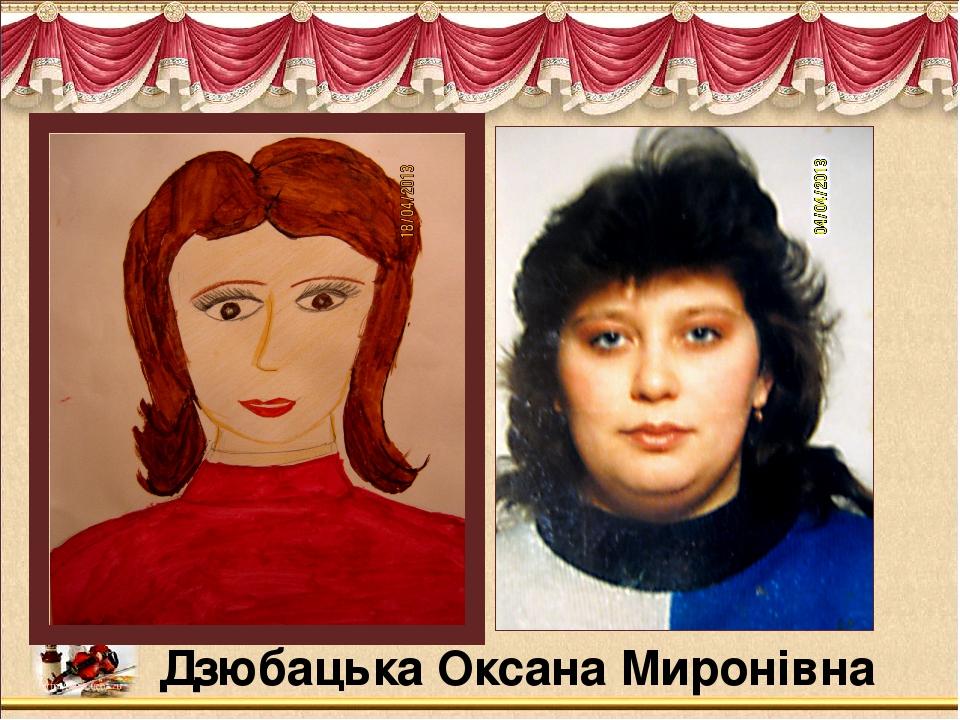 Дзюбацька Оксана Миронівна
