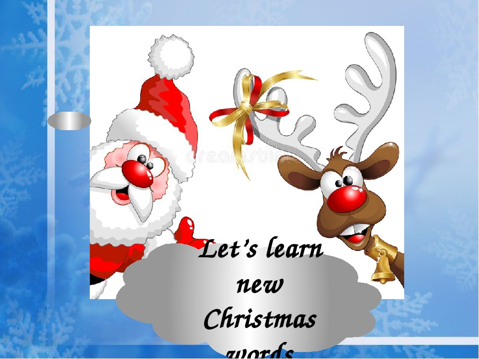 Let's learn new Christmas words