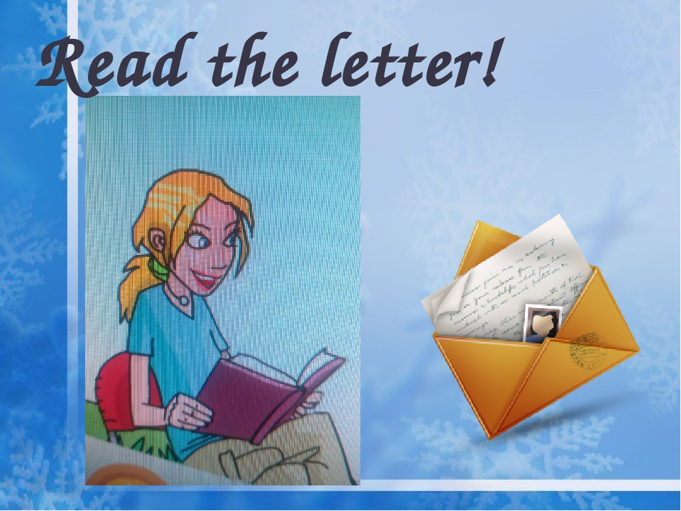 Read the letter!
