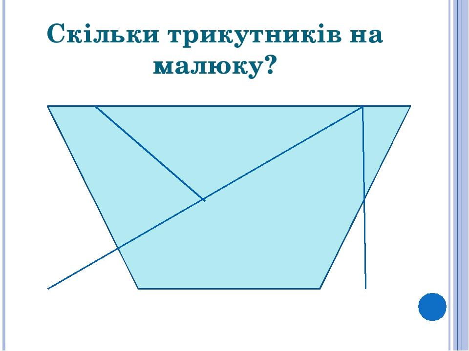 Скільки трикутників на малюку?