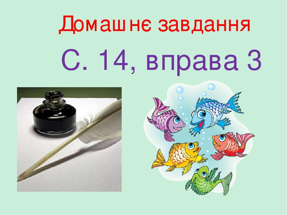 Домашнє завдання С. 14, вправа 3