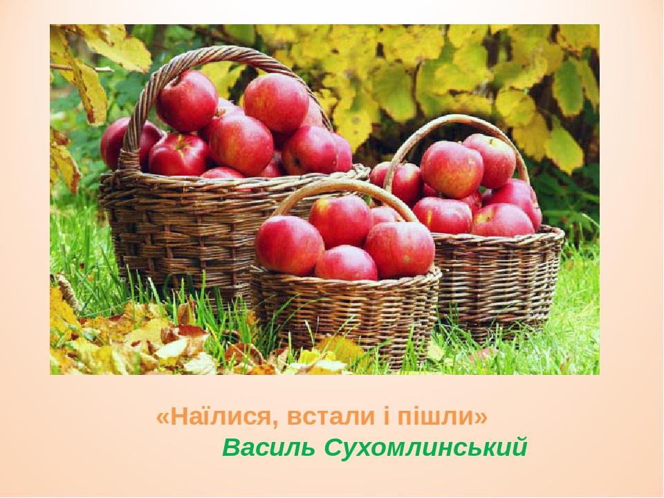 «Наїлися, встали і пішли» Василь Сухомлинський