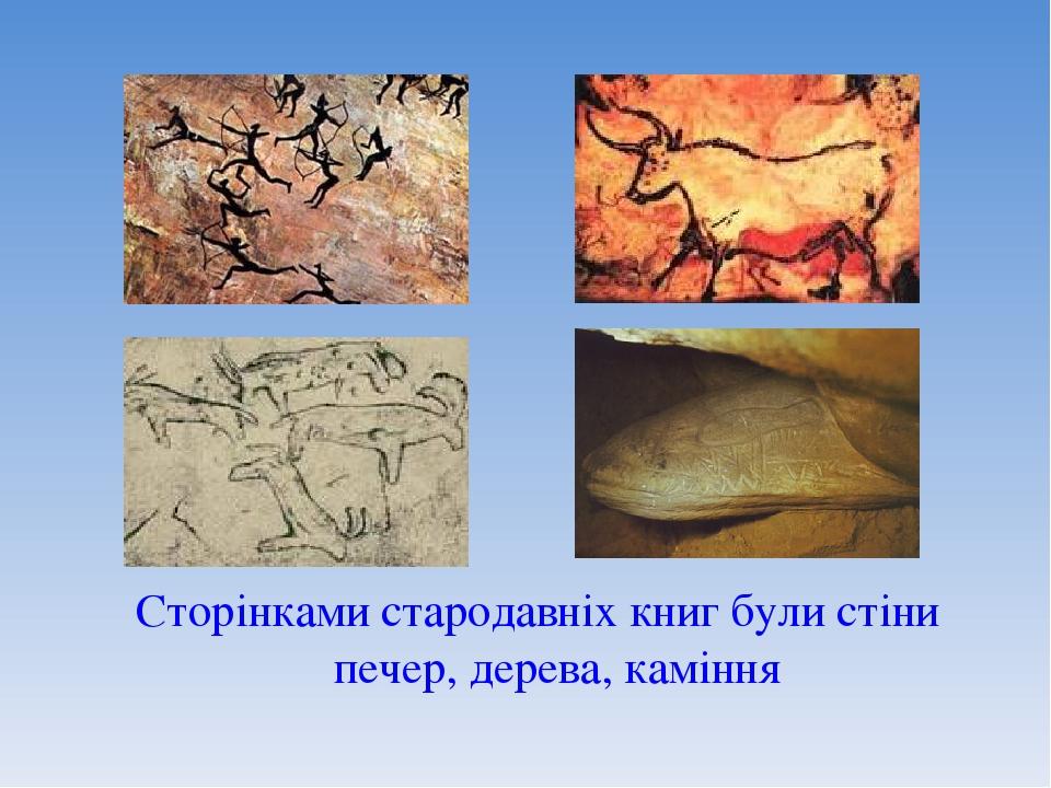 Сторінками стародавніх книг були стіни печер, дерева, каміння