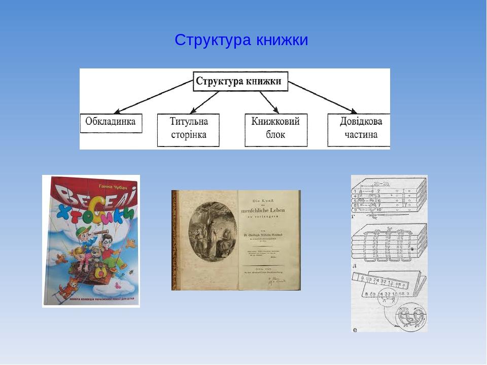 Структура книжки