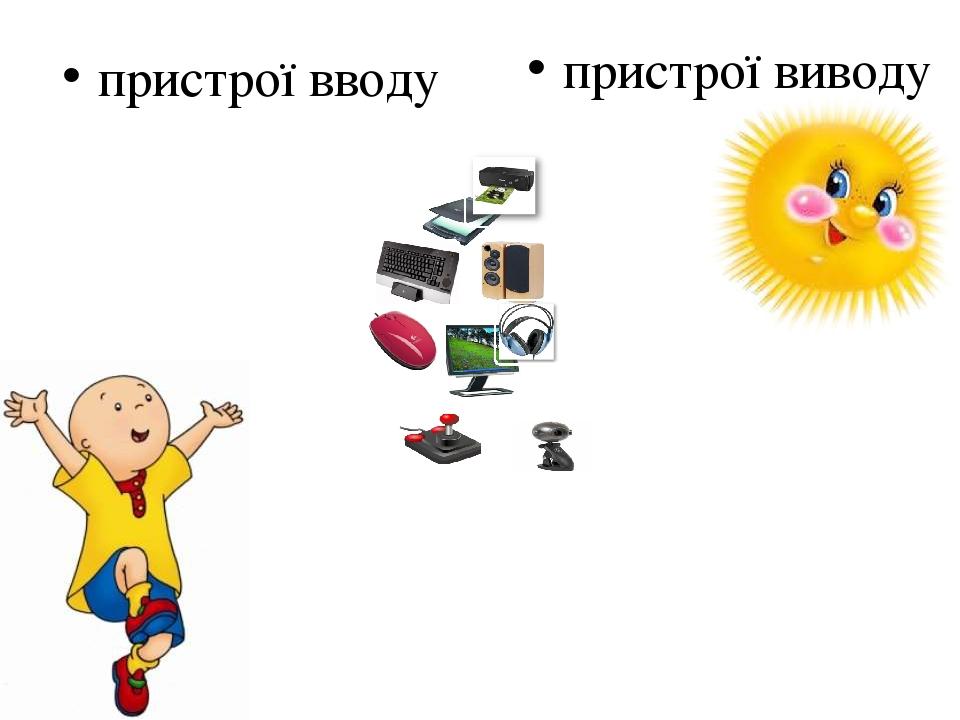 пристрої вводу пристрої виводу
