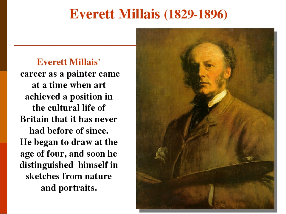 Everett Millais' career as a painter came at a time when art achieved a position in the cultural life of Britain that it has never had before of si...