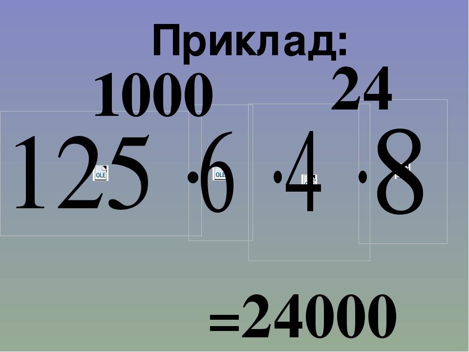 Приклад: 1000 24 =24000