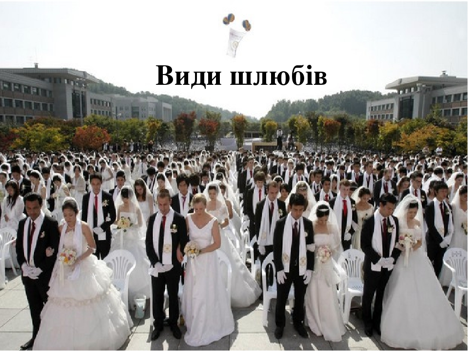 Види шлюбів