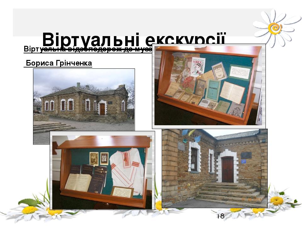 Віртуальні екскурсії Віртуальна відеоподорож до музею Бориса Грінченка