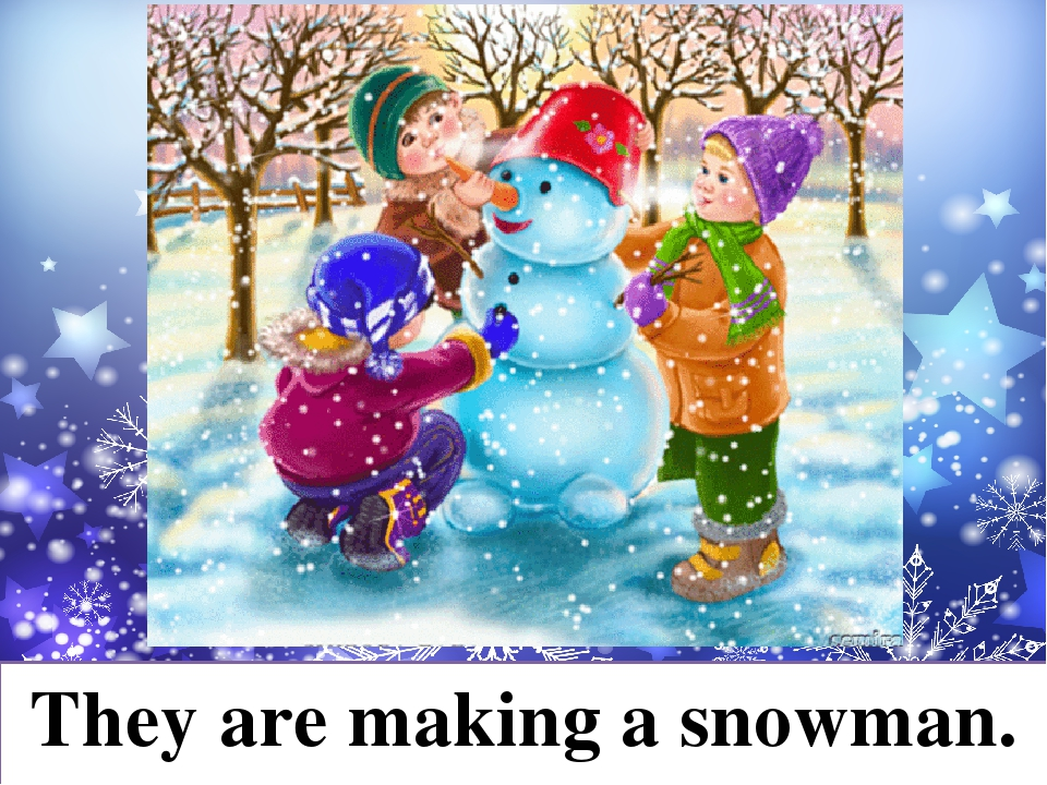 They are making a snowman.