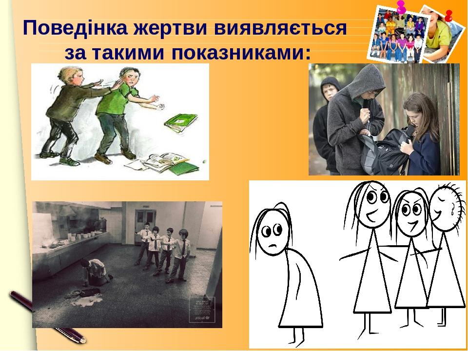Поведінка жертви виявляється за такими показниками: www.themegallery.com