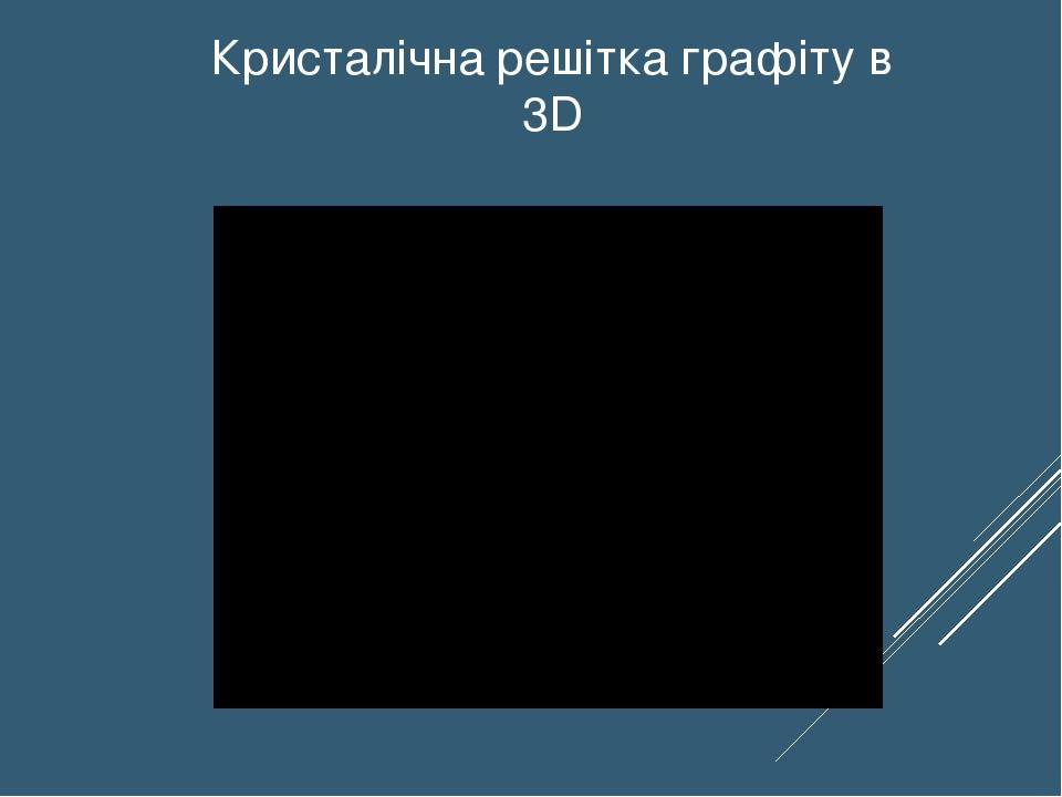 Кристалічна решітка графіту в 3D