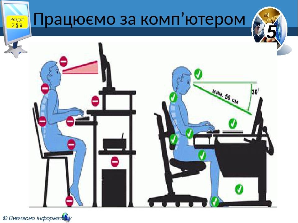 Працюємо за комп'ютером Розділ 2 § 9 5 © Вивчаємо інформатику teach-inf.at.ua